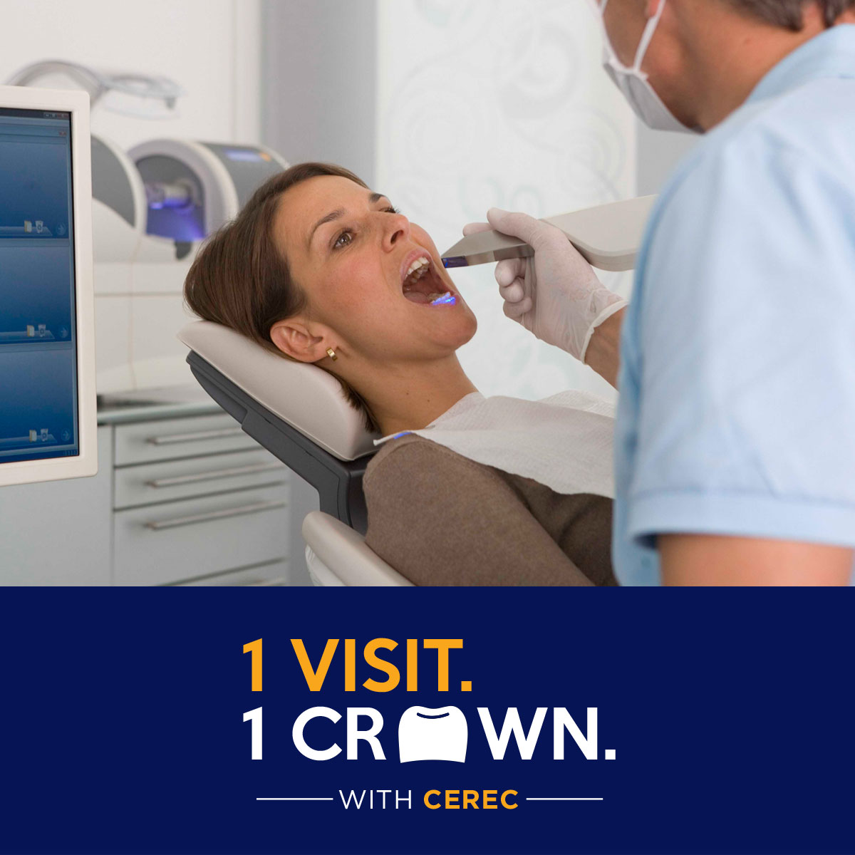 Get your crown done in just one visit!